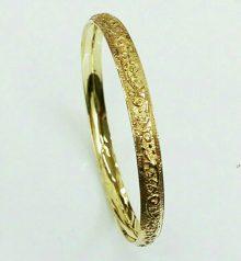צמיד זהב מרוקאי עם חריטה אומנותית (2320)