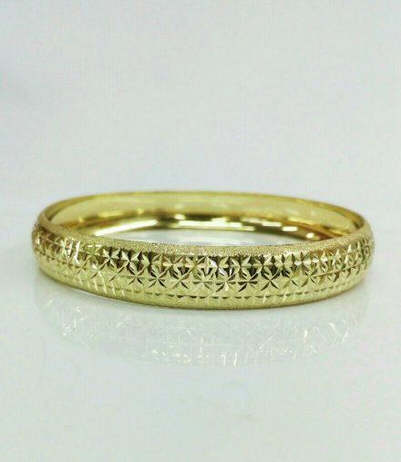 צמיד זהב עם חריטה כוכבים 2101