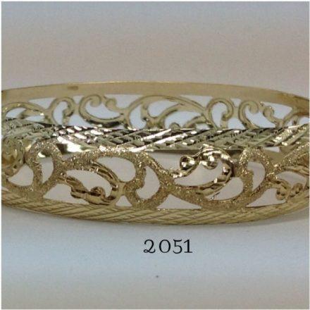 צמיד זהב 14K שמיניות מרוקאי משולב חריטת יהלום עם נצנץ וקנטים בוהקים בצדדים (2051)