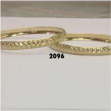 צמיד זהב 14K כוכבים בלגן בחריטת יהלום על רקע מבריק הכל בעבודת יד (2096)